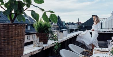 Our rooftop terrace